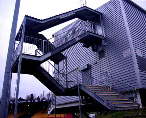 regulation compliant steel fire escapes