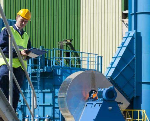 industrial steel walkway