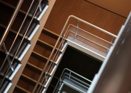 steel handrails and staircases